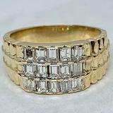 14KT YELLOW GOLD 1.75CTS MEN'S DIAMOND RING