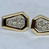 14KT YELLOW GOLD 1.20CTS DIAMOND EARRINGS