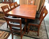 NEW ZIVA COUNTER-HEIGHT DINING TABLE & 8 PIECE SET (1499.00)