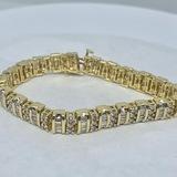14KT YELLOW GOLD 4.50CTS DIAMOND BRACELET