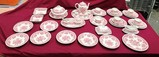 RED & WHITE CHINA SET BY VILLEROY & BOCH - FASAN - MADE IN GERMANY