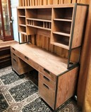 BEAUTIFUL 2PC DESK WITH HUTCH - UNFINISHED WOOD STYLE