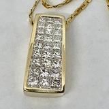 14KT YELLOW GOLD 1.50CTS DIAMOND PENDANT