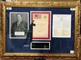 SIGNED LETTER BY PRESIDENT WILLIAM H. TAFT FRAMED ARTWORK