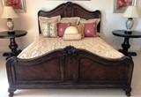CALIFORNIA KING ELEGANT MAHOGANY FRAMED BED