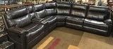 NEW ABBYSON LIVING LEATHER SECTIONAL W/ RECLINERS  ($2,259.00 ONLINE)