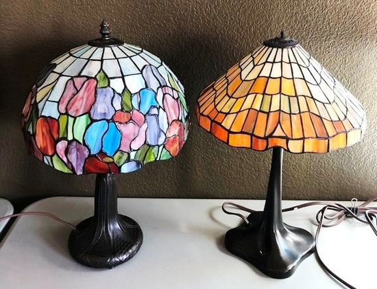 "LOT OF TWO 18"" TALL LAMPS"