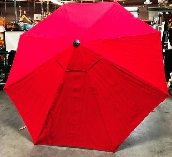 "NEW 10"" ROUND RED COLOR UMBRELLA - 159.00 NEW ONLINE"