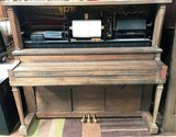 WORKING ANTIQUE PLAYER PIANO  - AS-IS