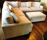 CRATE & BARREL SECTIONAL WITH MATCHING OTTOMAN ($3,699.00)