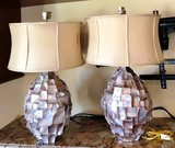 PAIR OF MATCHING LAMPS FROM POTTERY BARN ( 499.00 EACH)