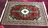NEW 8' X 5' RED SILK AREA RUG