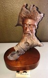 NUMBERED FACED TREE TRUNK ON STAND BY WOODLAND SPIRIT - LIMITED EDITION
