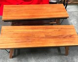 PAIR OF NEW SOLID WOOD 18