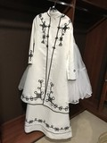 LIKE NEW UNIQUE WHITE CEREMONIAL GOWN W/ HAT