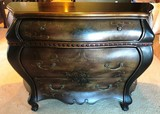 FLORAL BOMBAY STYLE LARGE 3 DRAWERS COMMODE CHEST
