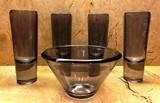LOT OF 5 VERA WANG GLASSES & BOWL BY WEDGEWOOD