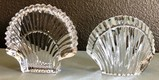 LOT OF TWO SIGNED WATERFORD CRYSTAL SEA SHELLS