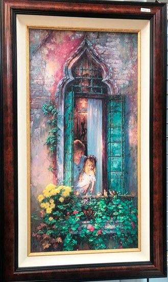 """CAO YONG - """"MORNING SONG 2000 HAND  EMBELLISHED"""" LE (21/250) W COA"""