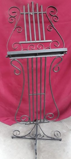 VINTAGE BOOK STAND - ALL METAL