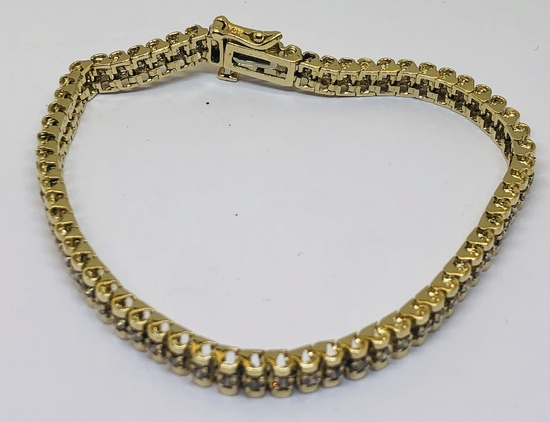 14KT YELLOW GOLD 3.00CTS DIAMOND BRACELET