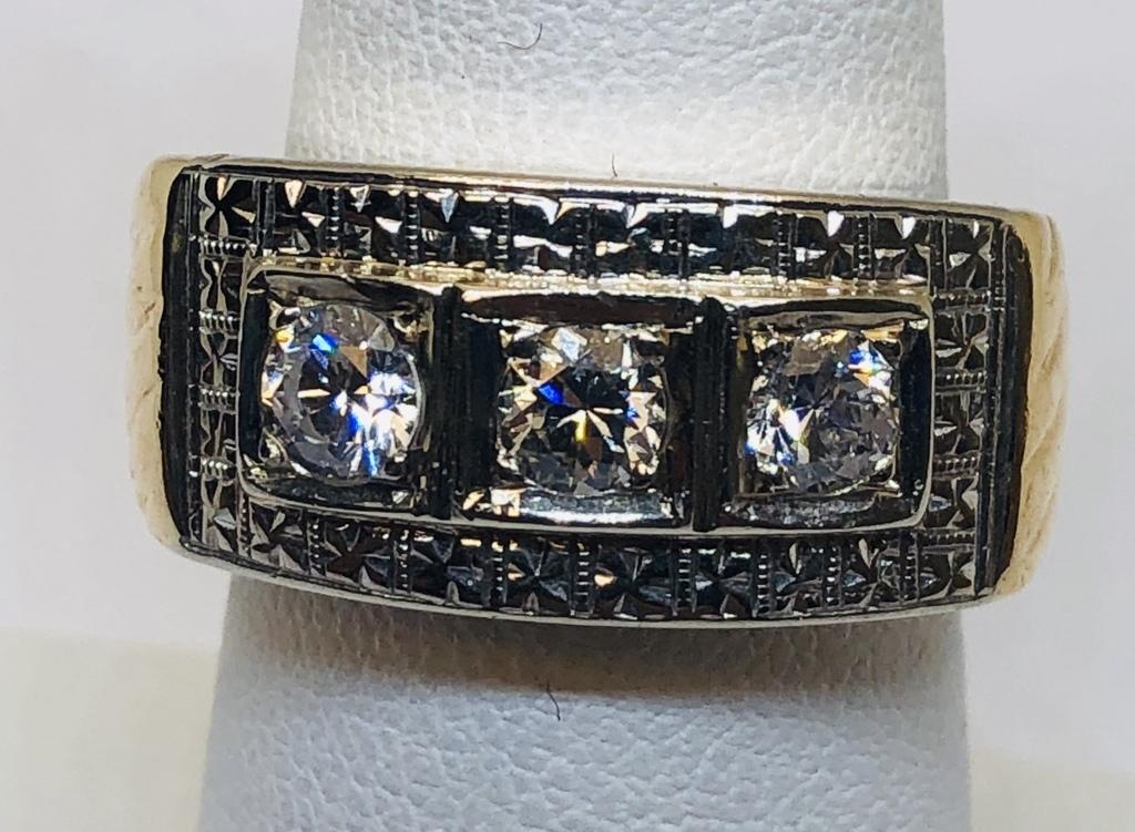 14KT YELLOW GOLD .60CTS DIAMOND RING
