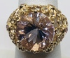 14KT YELLOW GOLD 8.40CTS MORGANITE RING