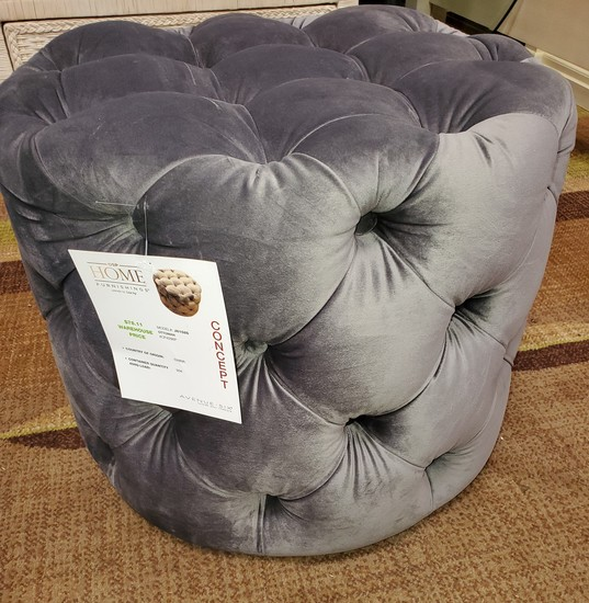 NEW DESIGNER FROM WMC - HOME FURNISHINGS TUFTED FOOT STOOL - 79.00 WHOLESALE