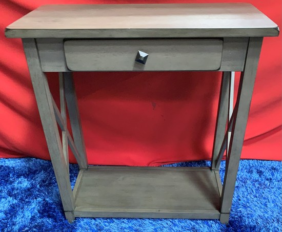 NEW DESIGNER FROM WMC - GREY ENTRY TABLE W/ DRAWER