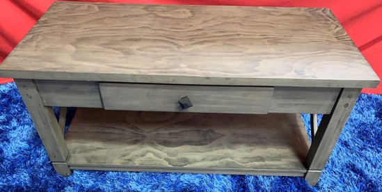 NEW DESIGNER FROM WMC - GREY COFFEE TABLE W/ DRAWER