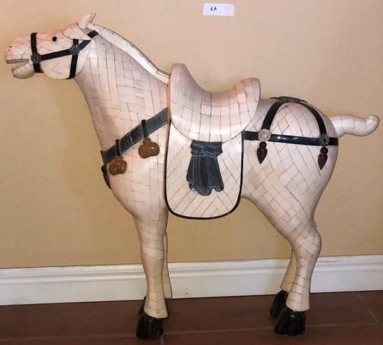 "BONE TEMPLE HORSE APPROX. 29"" X 27"""