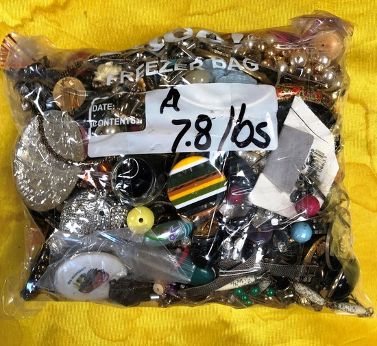 LOT OF 7.8 Lbs. OF ASSORTED COSTUME JEWELRY FROM ESTATE - LOT A