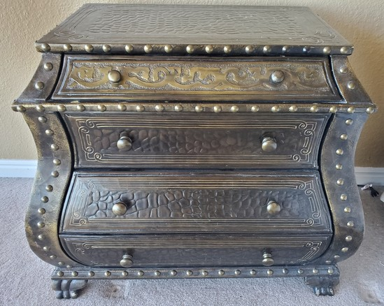 ORNATE BOMBAY CHEST FROM ESTATE