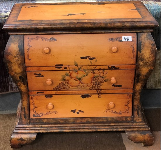 GORGEOUS 3 DRAWER PAINTED CABINET