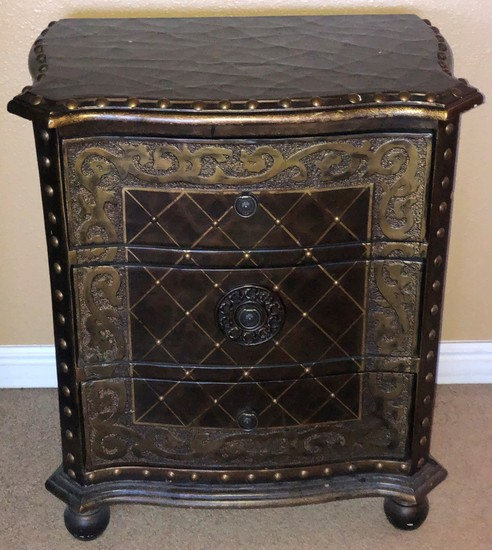 """28"""" TALL 3 DRAWER DECORATIVE NIGHTSTAND/CABINET"""