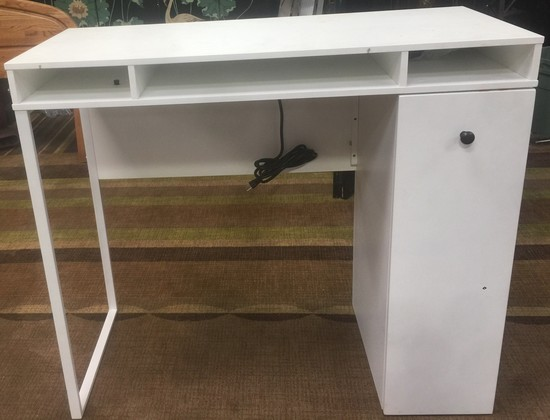 """NEW WMC DESIGNER HIGH TOP DESK/COUNTER WITH POWER OUTLETS - 42"""" TALL"""