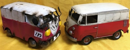 (2) VW METAL BUSES