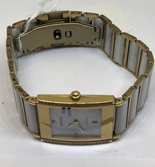 LADIES RADO JUBILEE DIAMOND AND MOTHER OF PEARL WATCH