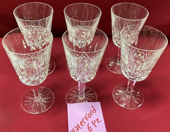 LOT OF 6 SIGNED WATERFORD CRYSTAL GLASSES