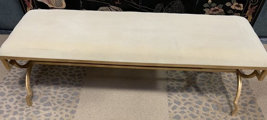 NEW WMC GOLD COLOR PADDED BENCH BY THREE HANDS (325.00)