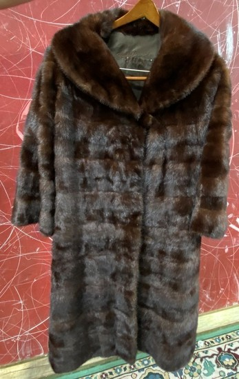 LONG FUR COAT BY DUFFY EDWARDS FROM BEVERLY HILLS