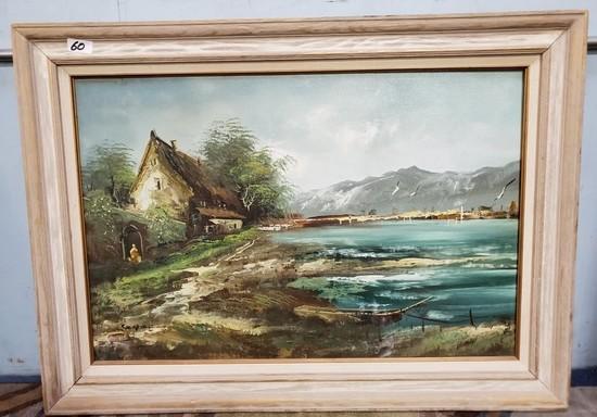 SIGNED FRAMED CANVAS ARTWORK - SEE PICS FOR DETAILS