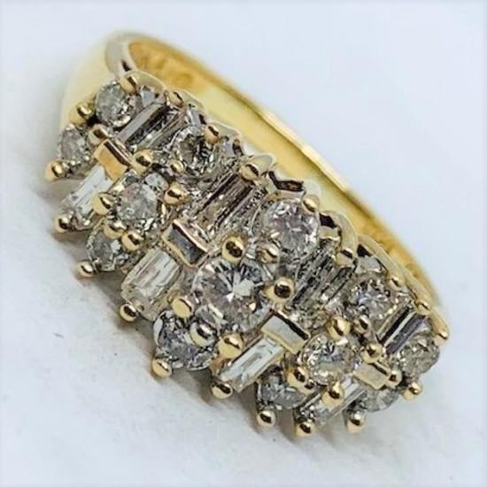 10KT YELLOW GOLD 1.00CTS DIAMOND RING