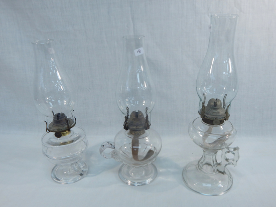 "3 Finger Lamps, 13"", 13"" & 14½"""