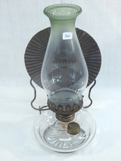 "Bracket Lamp W/ Tin Reflector, 13"""