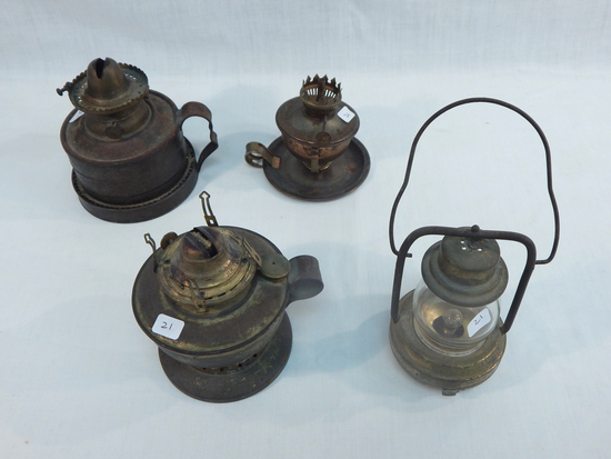 3 Finger Lamps; Vintage Battery Operated Lamp