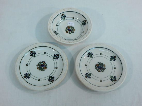 3 Pieces Ironstone - 2 Plates & 1 Dish