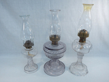 3 Old Oil Lamps - Swirl, 17½