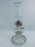Very Old Oil Lamp W/ Bubbles In Glass, 18