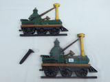 2 Cast Steam Locomotive Plaques; 1 Small Spike